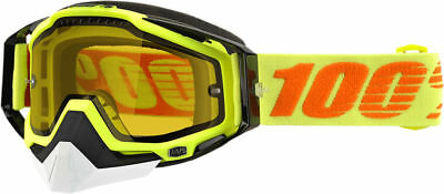 100% Racecraft Attack Yellow Lens Skiing Snowboard Winter Snowmobile Goggles