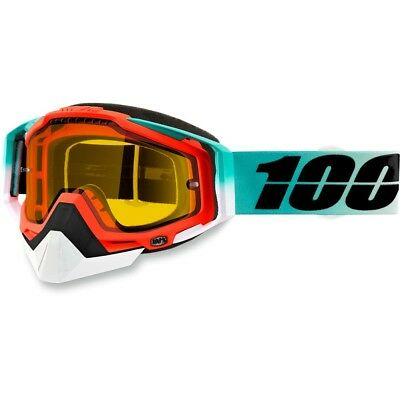 100% Racecraft Cubica Clear Lens Skiing Snowboard Winter Snowmobile Goggles