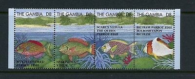 Gambia 1995  #1622   fish marine   strip  MNH  M416