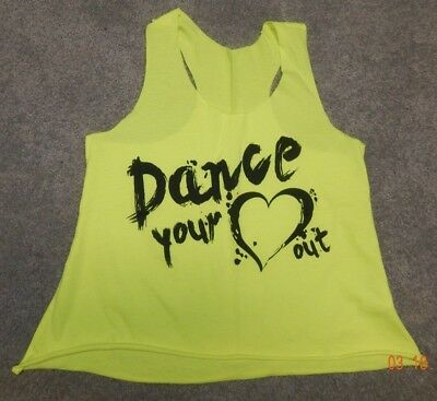 Youth Size Large--Gia Mia Brand Graphic Dance Tank--Excellent