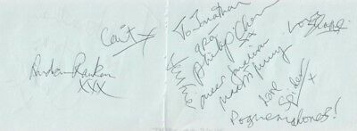 The Pogues (Shane Macgowan) Signed Autographs