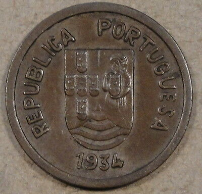 Portuguese India 1934 Tanga Nice Glossy Brown AU as Pictured