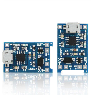 2PCS 5V 1A Micro USB 18650 Li-Ion Battery Charging Board Charger + Protection