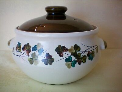 Denby Shamrock Large 4 Pint Covered Casserole Dish Tureen Very Good Condition(A)