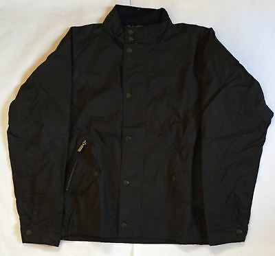 BRAND NEW - Barbour Barrington Waxed Cotton Navy Jacket -L- MSRP$349