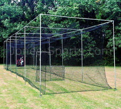 Batting Cage Net 10' x 12' x 50' #42 HDPE (60PLY) with Door Heavy Duty Baseball