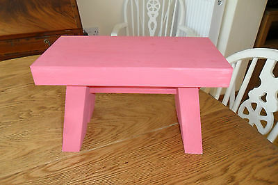 Lovely Small Pink Stepping Stool. Good condition.