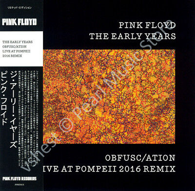 Pink Floyd The Early Years: Obfusc/ation Live At Pompeii 2016 Mix Cd Mini Lp Obi