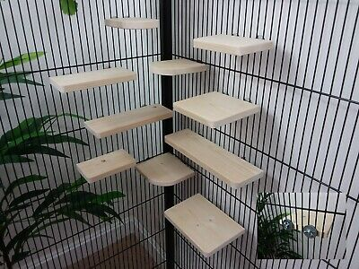 Mixed 10 Pack pine Shelves/Ledges, Chinchilla, Degu, Rat, Hamster Cage