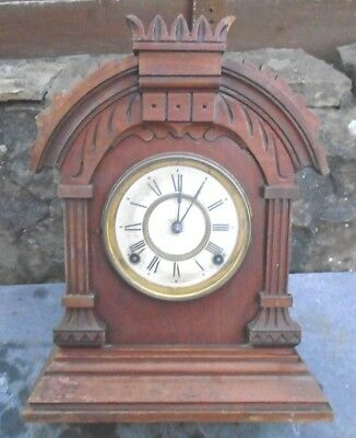 Antique American  Ansonia   8 Day  Mantel Clock