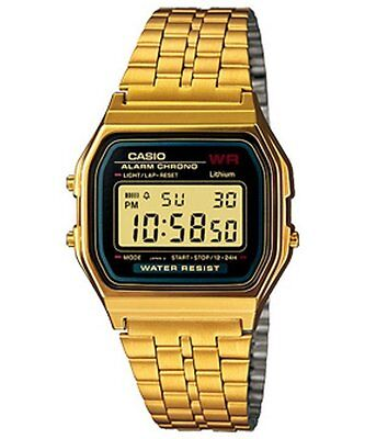 Brand New Casio Gold Digital Medium Sized Unisex Watch A159Wgea-1Df