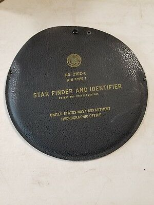 U.S.Navy Hydrographic Star Finder and identifier in Case Model #2102-C