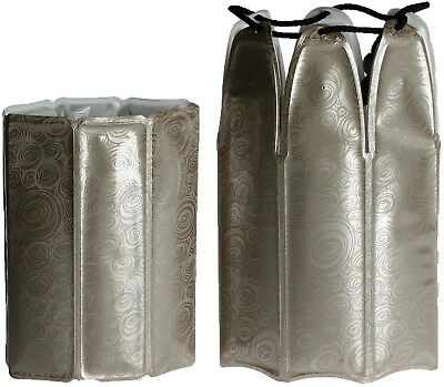 Vacu Vin Rapid Ice Wine and Champagne Cooler Set in Platinum 3887560
