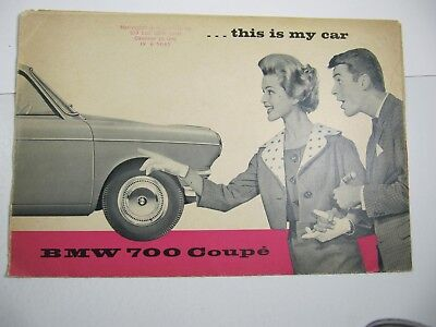 Automobile Car Sale Brochure BMW 700 Coupe 1959