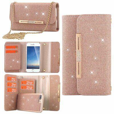 Fashion Bling Glitter Detachable Wallet Women Case Cover for iPhone X 7 8 Plus 6