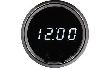 Automotive Digital Dash Clock RED LEDs inChrome Bezel Made in USA! Intellitronix