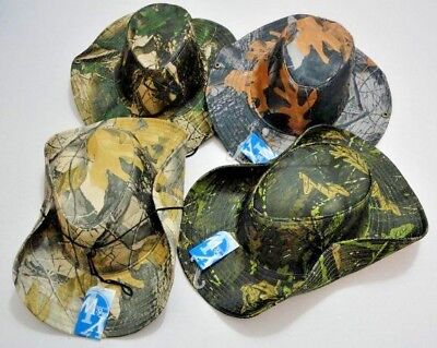 Hardwood Camouflage Boonie Hat  Fishing Safari Outback Camo Hat w/ Snaps