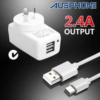Wall AC Charger Home Travel Type-C USB C Adapter Plug Cable for Mobile Phones
