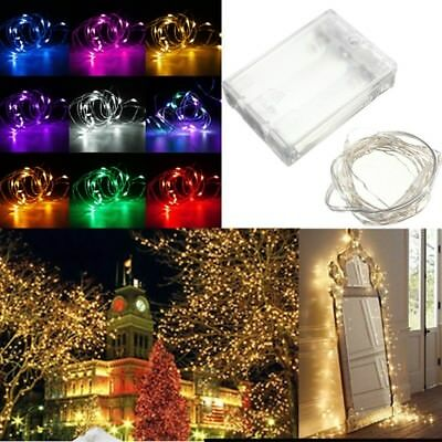 20 LED Battery Copper Wire String Fairy Light Wedding Xmas Party Lamp Waterproof