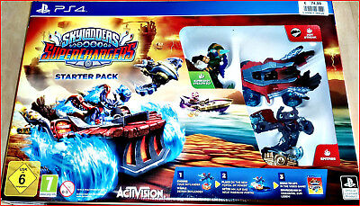 PS4 Nuovo Skylanders Superchargers Racing + Conf. Orig. + Extrafalle Versione