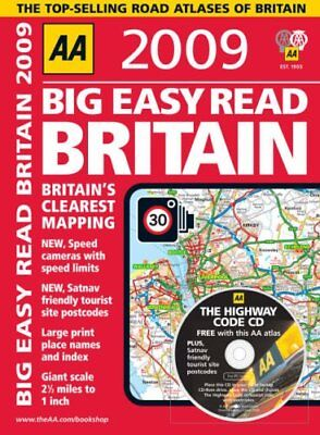 AA Big Easy Read Britain (AA Atlases and Maps) ... by AA Publishing Spiral bound
