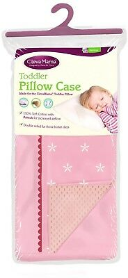 Clevamama Pink Toddler Pillow Replacement Spare Case
