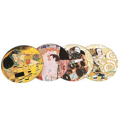 John Beswick CS04KL Klimt Glass Set of 4 Coasters