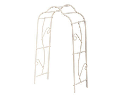15cm White Metal Garden Arch Or Pergola For Miniature Crafts