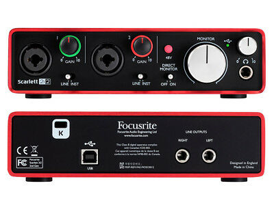 FOCUSRITE Scarlett 2i2 (2nd Generation) INTERFACCIA AUDIO USB 2 IN / 2 OUT