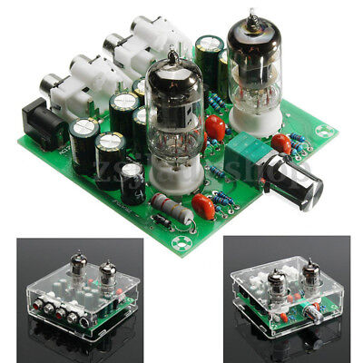 6J1 Valve Preamp Tube PreAmplifier Board Headphone Amplifier Buffer Acrylic Case