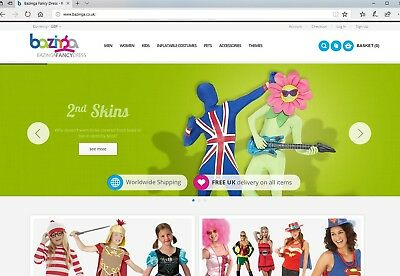 Online Fancy Dress Business for sale with £8k+ stock, website strong branding