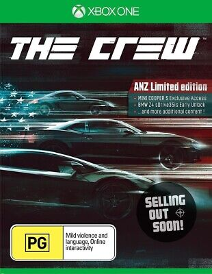 The Crew Xbox One ANZ Limited Edition NEW OZI car racing driving game X1 Console