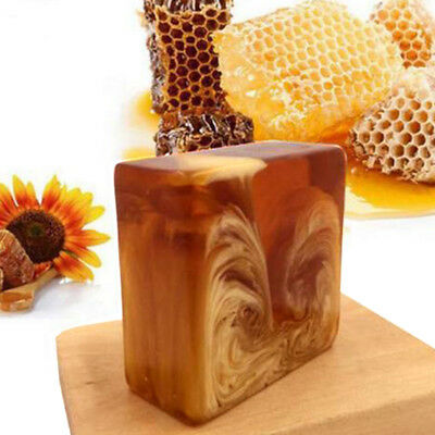 Natural Handmade Honey Milk Soap Skin Care Whitening Body Face Deep Cleansing