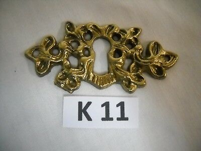 Antique Victorian Cast Brass Keyhole Cover