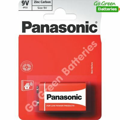 1 x Panasonic 9V PP3 Zinc Carbon Batteries, 9 Volt Smoke Alarms, LR22, MX1604