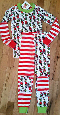NWT Hanna Andersson ORGANIC MIX IT UP Pajamas GRINCH DR SEUSS 110 4 5 6 NEW!