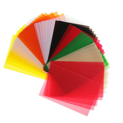50 x Vellum Coloured Translucent Tracing Papers for DIY Card making 15*10cm