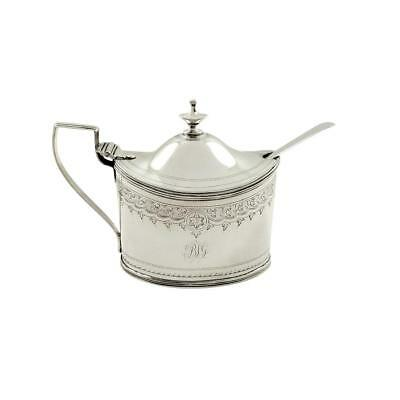 Antique Georgian Sterling Silver Mustard Pot - 1799