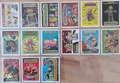 Garbage Pail Kids 30th anniversary.  Mini Giant Sticker. Complete 15 Card subset