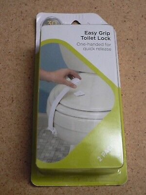 New Safety 1st HS247 2-Pack Easy Grip Toilet Lock One Handed for Quick Release