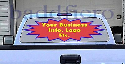 Vehicle Rear Window Graphics Customized See Through Vinyl Decals Stickers Logos