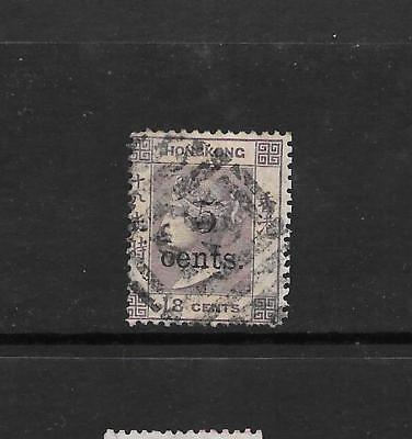 1880 Queen Victoria SG24 Optd. 5c on 18c Lilac Used HONG KONG