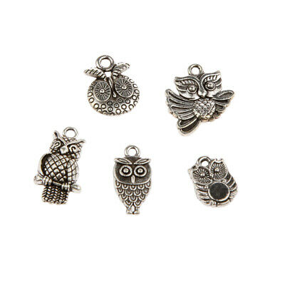 30 x Tibetan Silver Owl Charms Pendant Bead DIY Jewelry Making Crafts