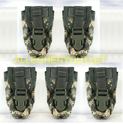 LOT OF 5 NEW US Military Issue ACU Flashbang Grenade Pouch MOLLE II