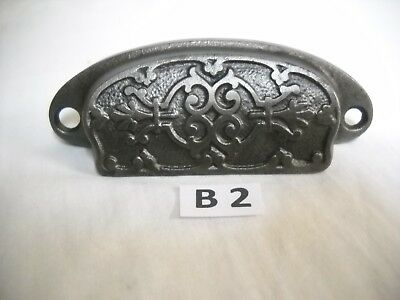 Antique Cast Iron Bin Drawer Pull 1880's Era