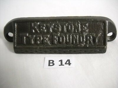 Antique Cast Iron Bin Drawer Pull 1880's Keystone Type Foundry