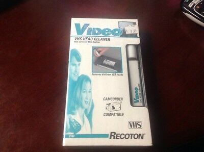 Recoton VHS Video Cassette VCR Head Cleaner V-144  New Factory Sealed
