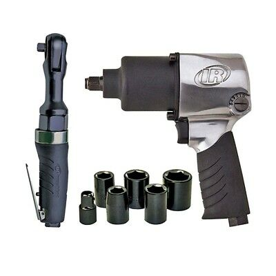 Ingersoll Rand Air Impact and Wrench Ratchet Socket Combo Kit Power Tool 2317G