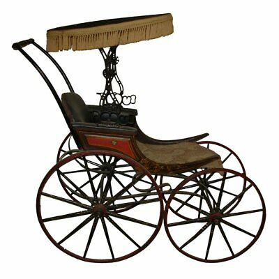 Antique Stenciled Childs Carriage