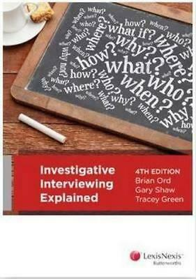 NEW Investigative Interviewing Explained By B. Ord Paperback Free Shipping